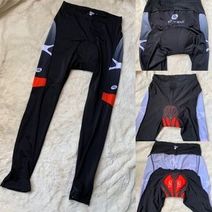 Zero Bike Men's Long pants padded cycling Sz XXL